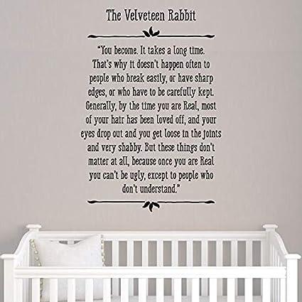 Amazon Com Velveteen Rabbit Wall Quote Decal Nursery Spring