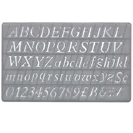 Lettering Stencils Upper Lower Case Number Stencil Sign Symbol 5
