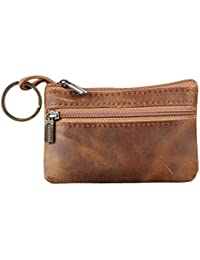 b09f5699a91 Genuine Leather Mens Tray Purses Coin Purse Cash Change Wallet Key Holder  Money Pouch