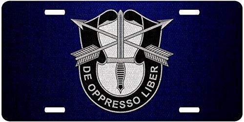 ExpressItBest Premium Aluminum License Plate - U.S. Army 1st Special Forces, regimental insignia