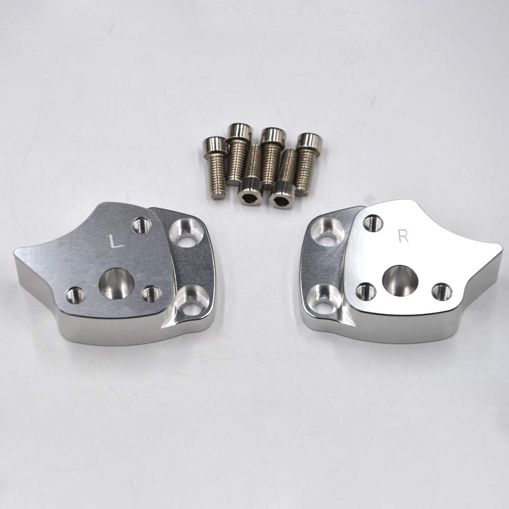 Dasen 1 Silver Handlebar Risers Motorcycle Handle bar Spacer Kit Accessories For 2001 2002 2003 2004 2005 Yamaha FJR 1300