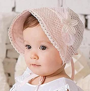 Amazon.com  Baby Soft Cotton Bucket Hat Floral   Solid color Double ... 6ac29347c11