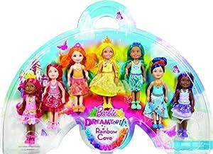 Amazon Barbie Dreamtopia Rainbow Cove 7 Doll Gift Set