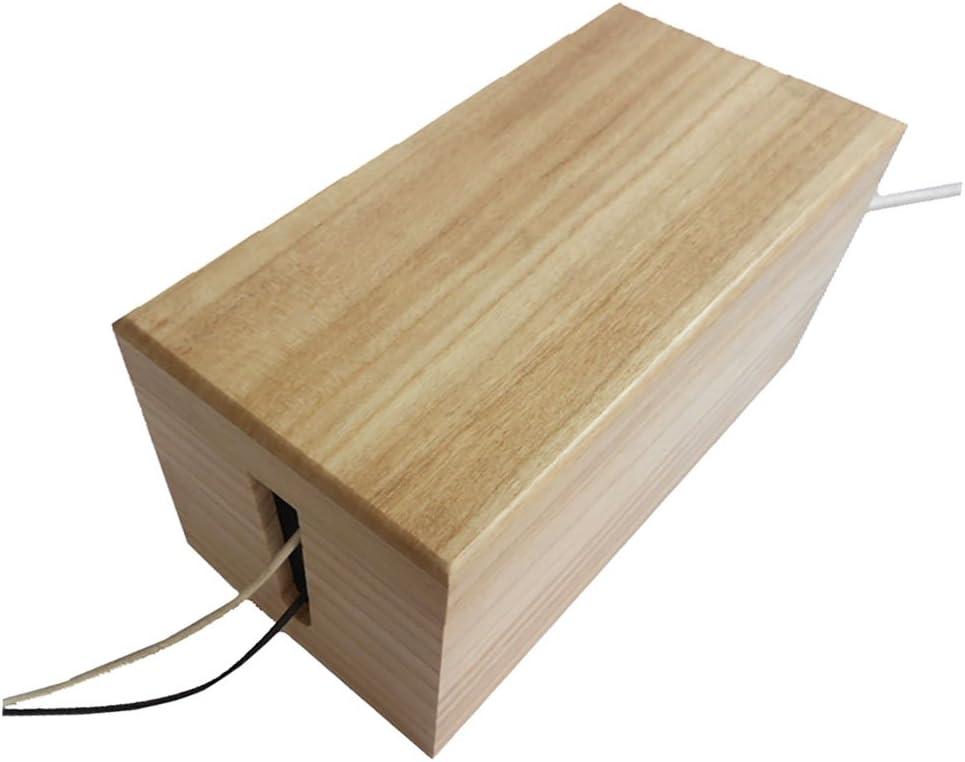 Madera contenedor de almacenamiento Caja de gestión de Cable: Amazon.es: Bricolaje y herramientas