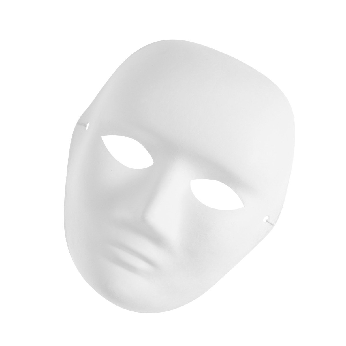 Amazon.com: Amosfun Mens Portrait Mask Painting Mask Full Face Costume Pulp Blank White Mask for DIY Paint Halloween Party Mask: Clothing