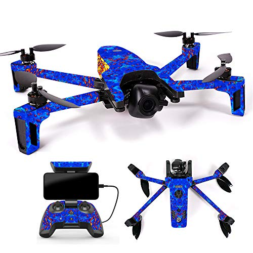 MightySkins Skin for Parrot Anafi Drone - Melting | Protective, Durable, and Unique Vinyl Decal wrap Cover | Easy to Apply, Remove, and Change Styles | Made in The USA