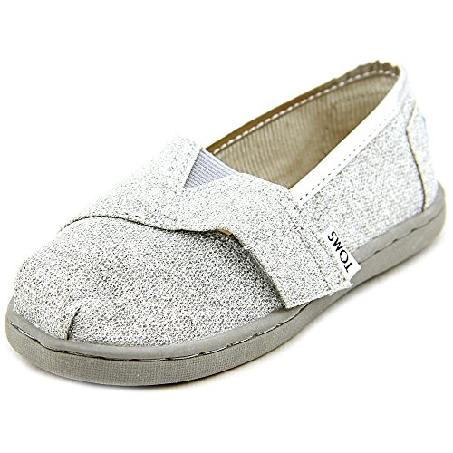 Toms Classics Toddler US 8 Silver Loafer