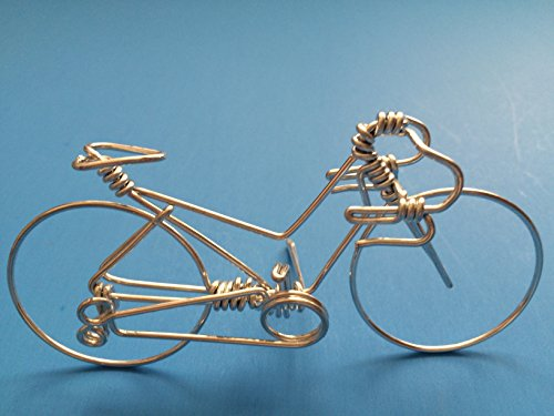 Handcrafted Women Road Bikes Medium ~ Unique Biking Gifts for Cyclists as Cake Toppers ~ Handmade with One Whole Aluminum Wire w/ No Single Break