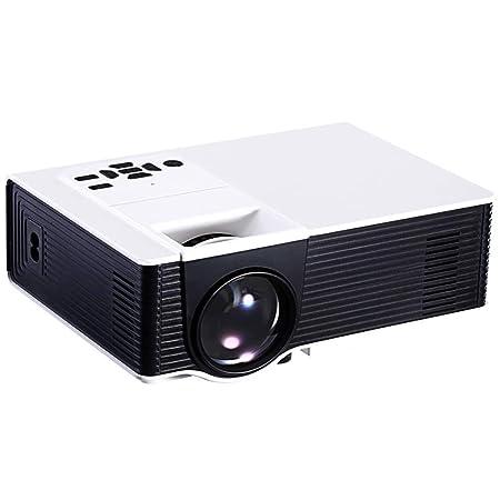 QinLL Mini proyector, 1500 lúmenes proyector portátil, con 180 ...