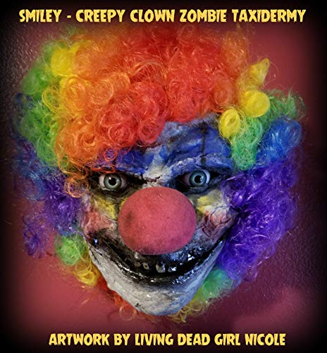 Life Size Zombie Faux Taxidermy - Smiley The Clown - Undead Creepy Circus Carnival Scary Halloween Horror Decor - Handmade Dark -
