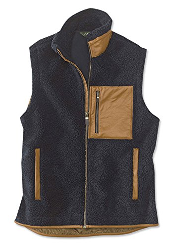 Orvis Men's Stowe Fleece Vest, Navy, X Large