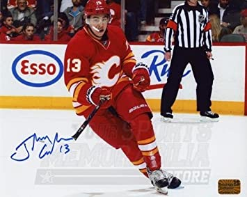 Johnny Gaudreau Calgary Flames Signed Autographed Johnny Hockey Inscribed Puck