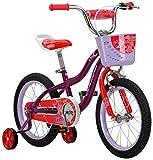 Schwinn S0683AAZ Elm Girl's Bike with SmartStart, Purple, 16-inch Wheels