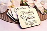 Personalized Coasters - Set of 4 - Stacked Names