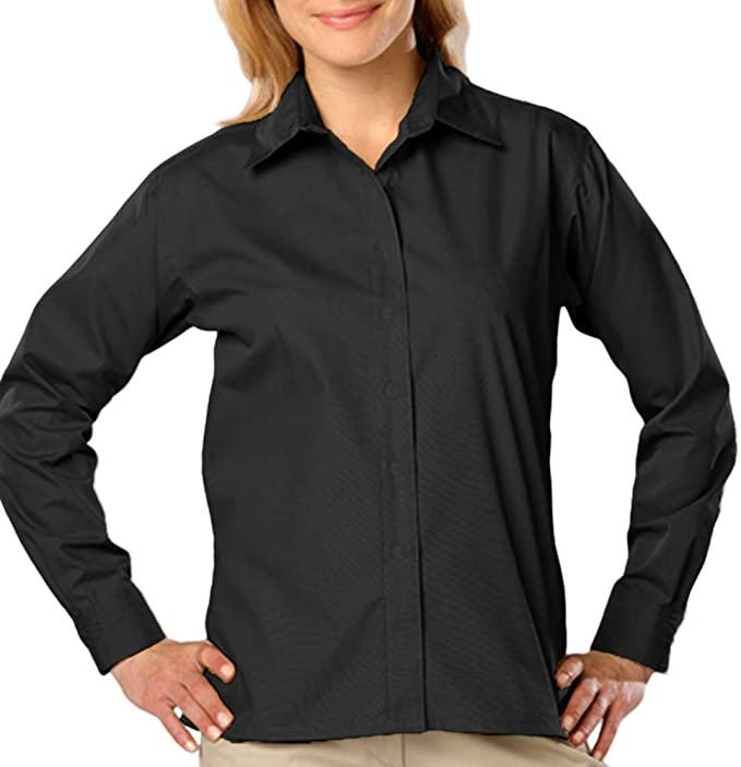 Ladies Long Sleeve Value Poplin Blue Generation BG6210