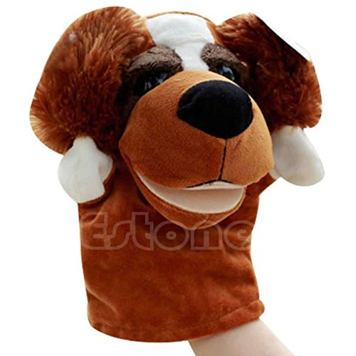 Shoresu Hand Puppet Dog Pet Plush Toy Hot Cute Speak Talking Sound Record Hamster Educational Toy for Children Gift Dog 24×16 cm ()