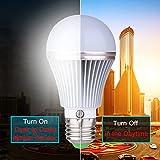 Dusk to Dawn Light Sensor Bulb, E27 5W Lamp Post, Sensor Light Security Bulb Fence Post Lights Outdoor Photosensor Detection Indoor Lighting Lamp for Porch Hallway Patio Garage Natural White 4000K