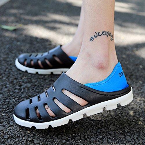 Xing Lin Sandalias De Hombre Nuevo Estilo De Verano Zapatos De Hombre Zapatos Agujero Playa La Mitad De Patinaje Zapatillas Sandalias De Ocio De Jóvenes Estudiantes black