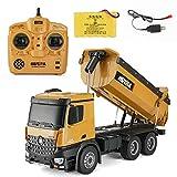 Huina rc Trucks 1:14 RC Truck 10-CH Remote Dump Truck Toy Best Gift for Kids Children