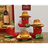 Chili Pepper Deluxe Canisters 3pc Set