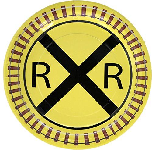 Railroad Train Party Plate (9