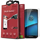Moto Motorala Droid Maxx 2 Screen Protector, iCarez [Tempered Glass] Highest Quality Premium Easy Install With Lifetime Replacement Warranty - Retail Packaging 2015