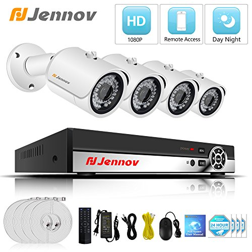 POE Security Camera System, Jennov 4 Channel 1080P PoE Secur
