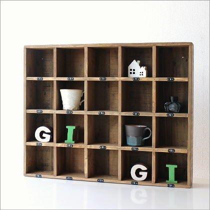 コレクション棚 仕切り 飾り棚 木製 シェルフ シャビーシックなマルチ20ボックス [ras5107] B01G4UHJW6 Parent