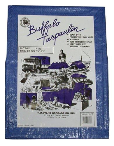 T.W Evans Cordage 01020 Buffalo Blue Poly Tarpaulin, 10-Feet by 20-Feet