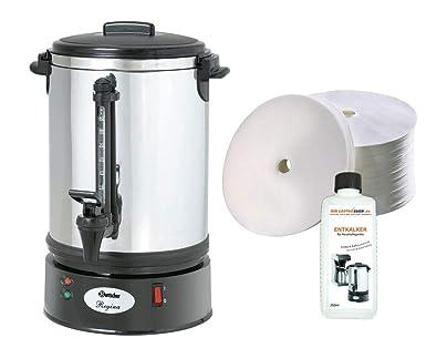 Regina Plus 40T - Cafetera de filtro redondo (incluye 500 filtros ...