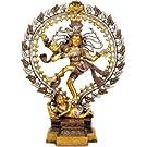 Nataraja en oro y plata tonalidades - Escultura de bronce
