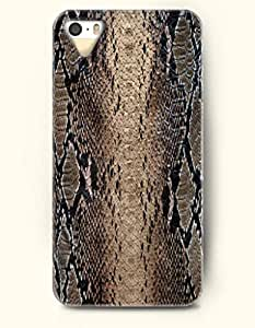 iPhone 5/5S Case, OOFIT Phone Cover Series for Apple iPhone 5 5S Case (DOESN'T FIT iPhone 5C)-- Brown And Black Serpent Pattern -- Snake Skin Print
