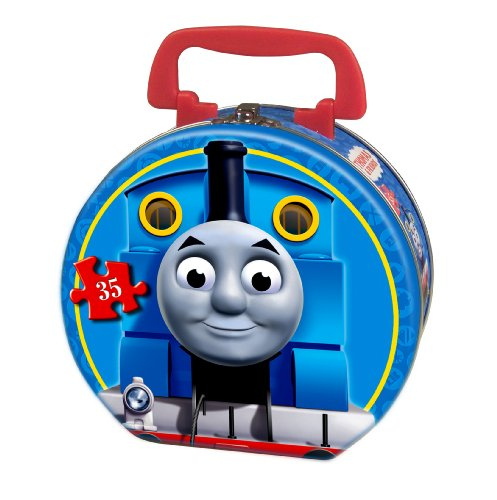 Thomas & Friends Snowy Day 35-Piece Puzzle in a Round (Thomas The Tank Floor Puzzle)