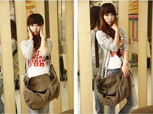 Woman Handbags Canvas with Leather trim Oversized Hobo Shoulder Weekender Crossbody Bag Messenger bag Backpack Rucksack Bookbag C