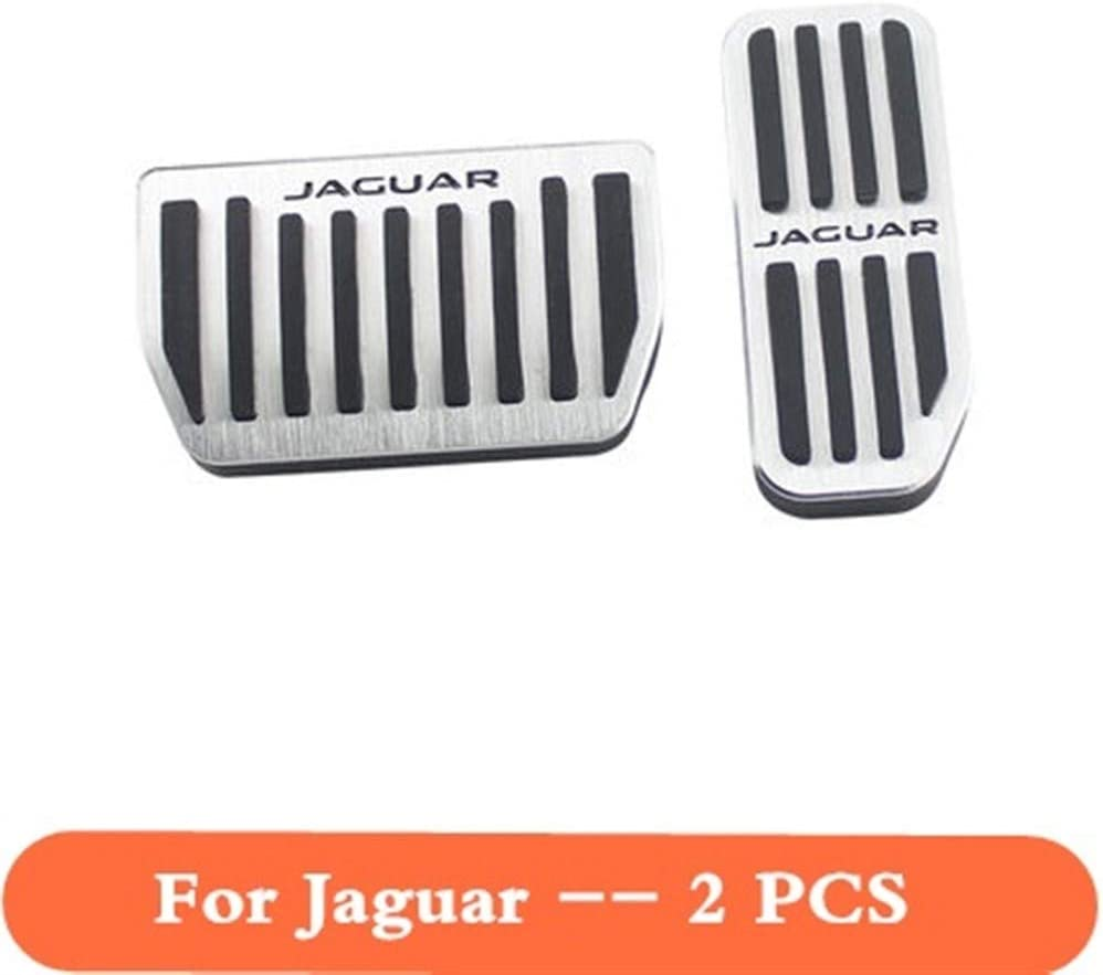 Color Name : For Jaguar Silver NOBRAND Aluminum Alloy Car Accessory Gas Pedal Brake Pedal For Jaguar XE XF F-PACE F PACE 2015 2016 2017 2018 Gas Brake Foot Rest Pedal