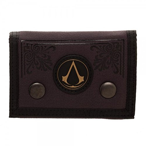 Official Licensed Men's Assassin's Creed Emblem Canvas Tri-Fold Wallet Assassin' s Creed
