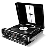 ION Audio Mustang LP   4-in-1 Classic Car-Styled Music Center with Built-In Speakers (Black)