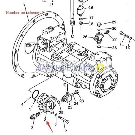 Amazon Com For Komatsu Excavator Pc400 Pc400 3 Gear Pump 704 23