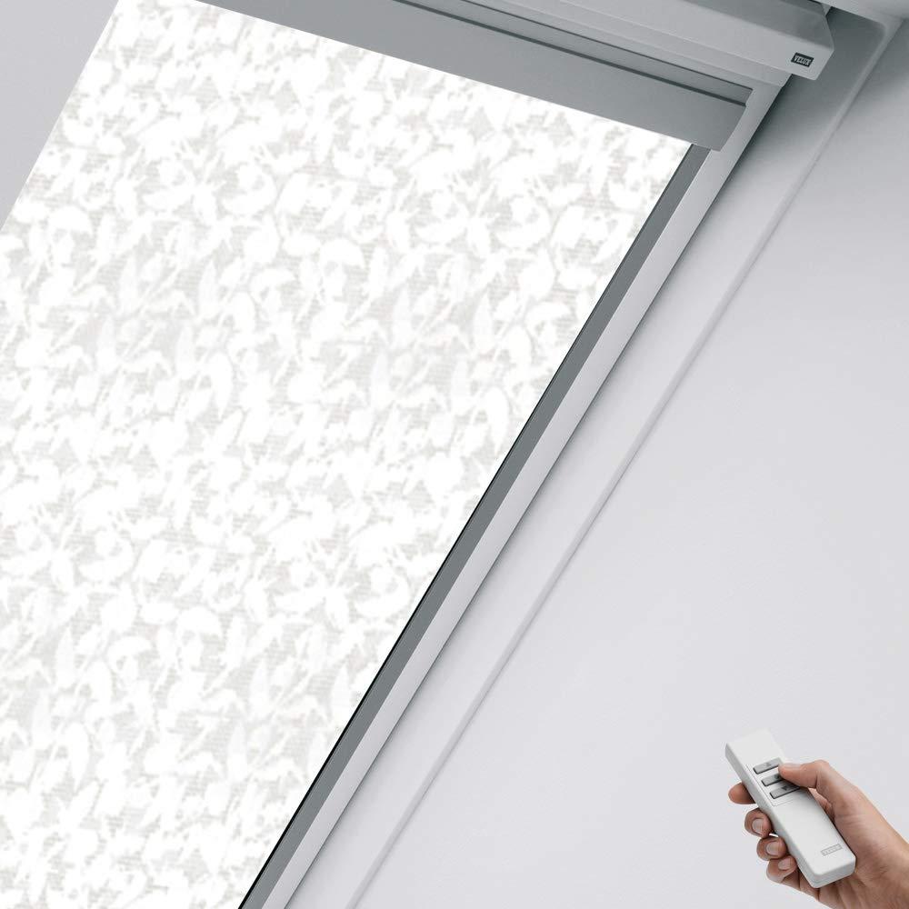 VFE VEA VELUX Orignal Sichtschutzrollo RSL U31 4156/Bedienart : Solar/Farbe : Dekor Beige/Weiß/Fenstergröße : U31/Fenstertypen : GIL VFA Gel VfB GDL VEB VEC_27107 GIV