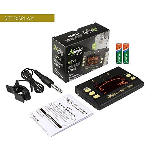Mugig Metronome, Digital Tuner, Tone Generator 3 in 1 Multi-Instrument  Device for Guitar, Bass, Violin, Ukulele, Chromatic Tuning, Large LCD  Display,