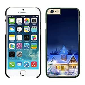 The Christmas Tree On Christmas Day Lovely Mobile Phone Protection Shell for iphone 5s Case-Unique Soft Edge Case(2015),Christmas town iPhone 5s Case Black