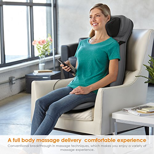 INTEY Shiatsu Massage Chair Pad Back Massage Chair with Heat / Vibrating Functions for Home Office Car by INTEY (Image #4)