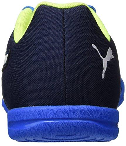 Puma Evospeed Sala Graphic, Botas de Fútbol para Hombre Azul (Blk/Wht/Red)