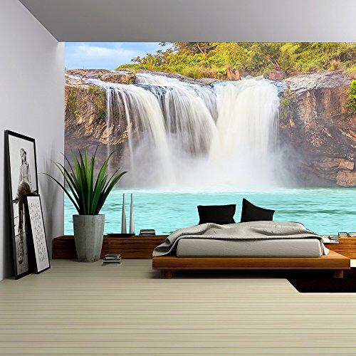 Beautiful Dry Sap Waterfall in Vietnam Panorama