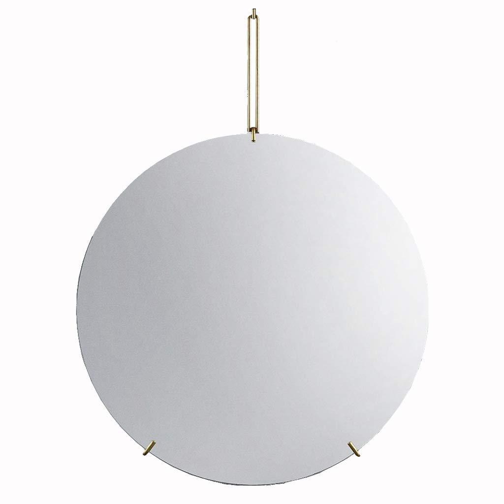 Selm 浴室用ミラー壁掛け、バニティミラーラウンドフレームレス化粧鏡付き鉄吊り棚用浴室洗面所廊下 (Size : 50CM) 50CM  B07TRSWPQ8