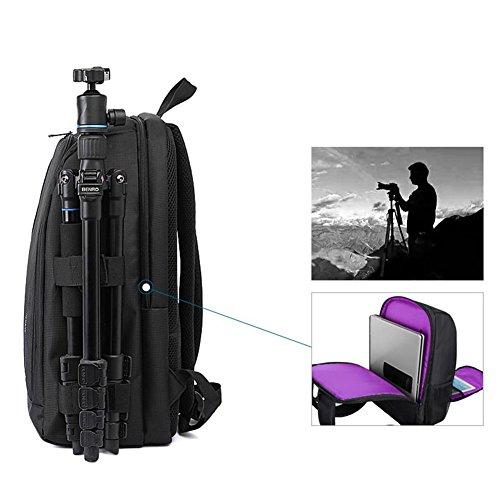 Amazingdeal365 Al aire libre mochila multifuncional impermeable cámara portátil bolsa (Verde) Violeta