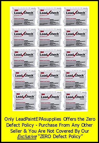 3M, 120 Swab 3M LEADCHECK Lead Tests with verification cards (15-8 packs) - Every swab is checked prior to being shipped for defects - 100% ready to use. LC-120S10C by 3M-Leadcheck