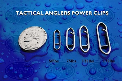 Tactical Anglers Power Clips Paperclip Fishing Lure Fast Snap 10 per pack 75 lb ()
