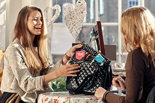 Periea Handbag Organizer, Liner, Insert 12 Compartments - Chelsy (18 Colors, 3 Sizes)