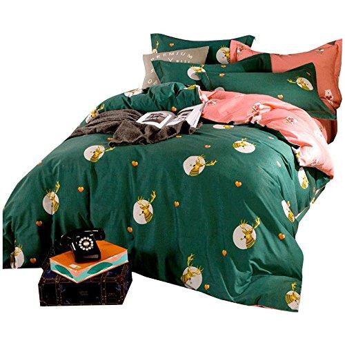 DHWM-Pure Cotton Mill gross 4 piece set, double bed linen, cotton thick sheets set of ,1.5m